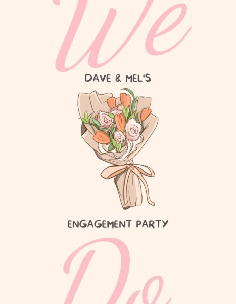 Pink Sweet Wedding Program