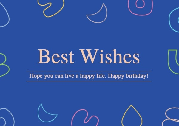 Blue Wish Card