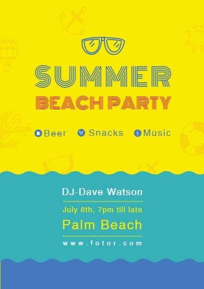 Yellow Summer Beach Party