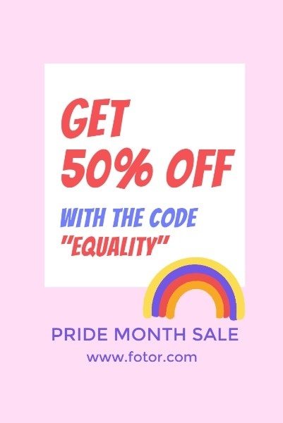 Pink Pride Month Sale