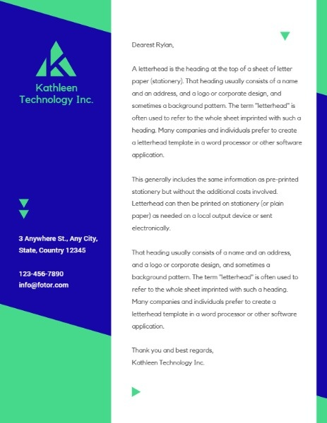 Green Business Technology Letter