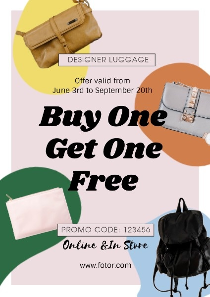 Buy One Get Free Fashion Bag Sale
