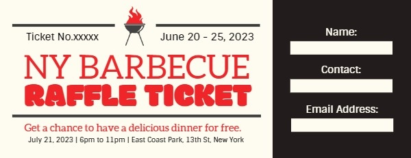Black And Yellow Barbecue Restaurant Coupon