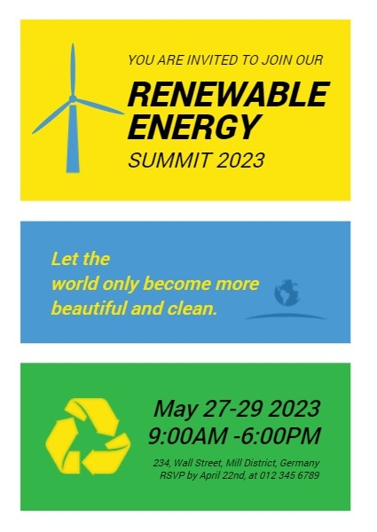 Renewable Energy Conference Invitation