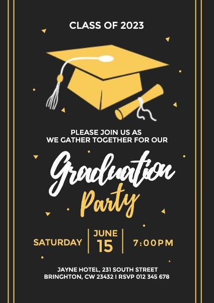 Black Graduation Party