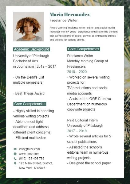 Plant Resume