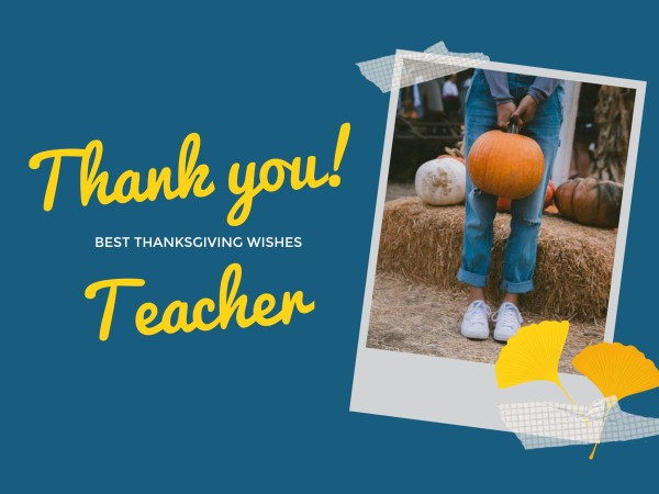 Thanks For Teacher