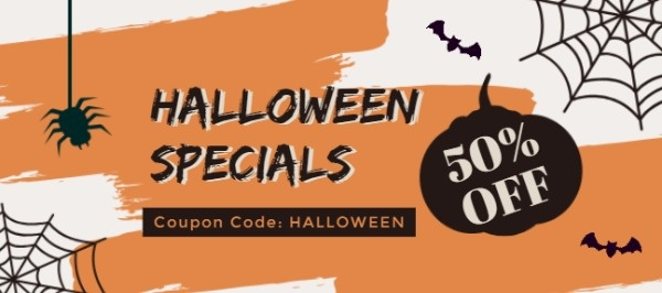 Yellow Halloween Special Offer Coupon