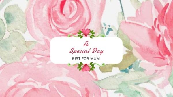Mother's Day Flower Banner