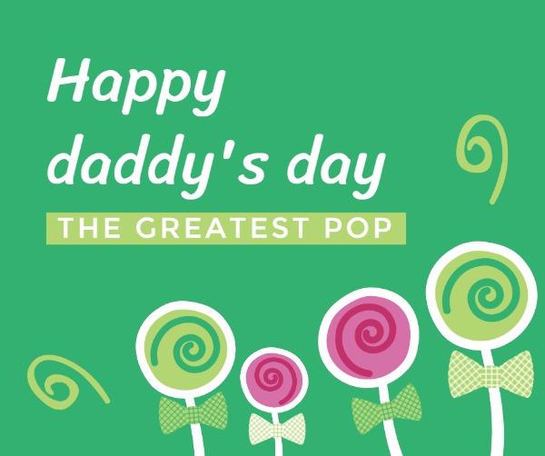 Happy father's day lollipop