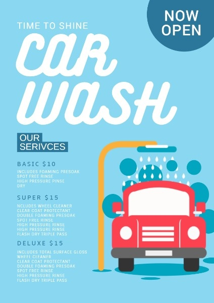 Online Car Wash Flyer Template Fotor Design Maker