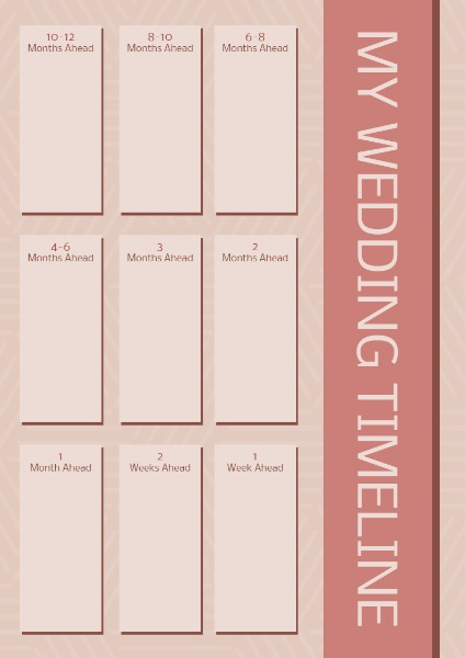 online wedding timeline planner template fotor design maker