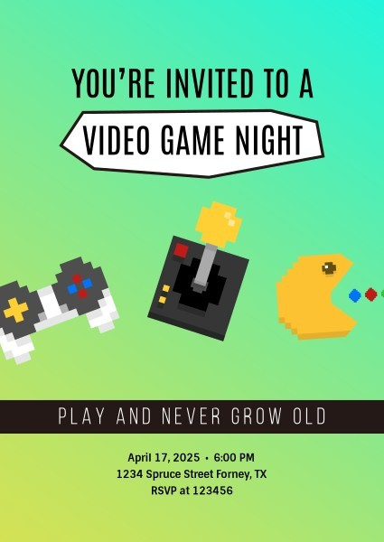 Green Video Game Night