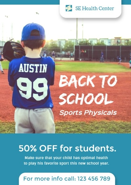 Student Back To School Physicals