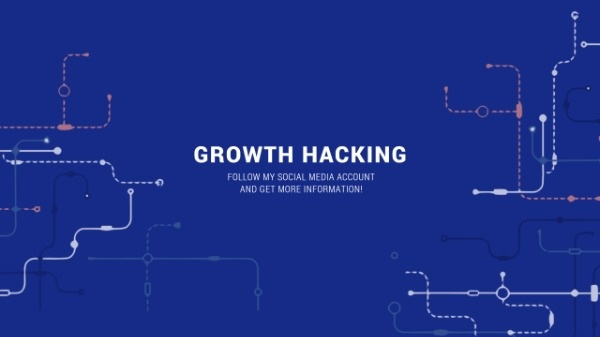 Blue Electronic Growth Hacking Tips Banner