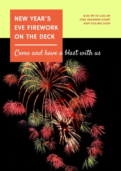 Red Firework Poster