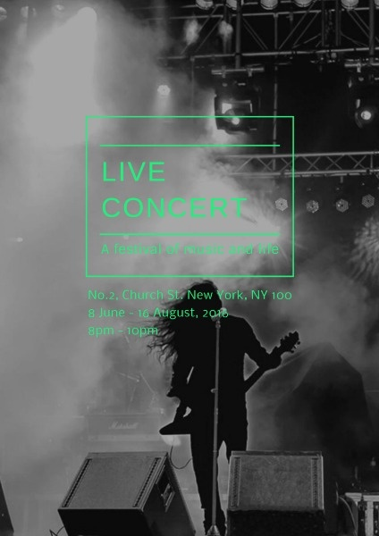 Poster Maker – Design Live Music Concert Poster Online for Free | Fotor
