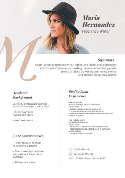 Simple White Resume