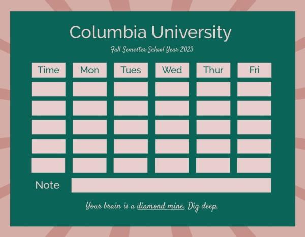 25class schedule_lsj
