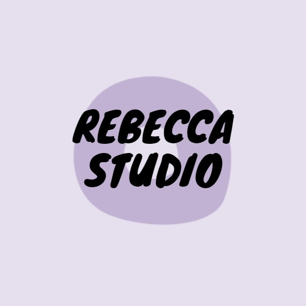 Purple Simple Studio Logo Design