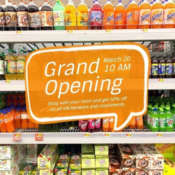 Orange Market Grand Opening Sale