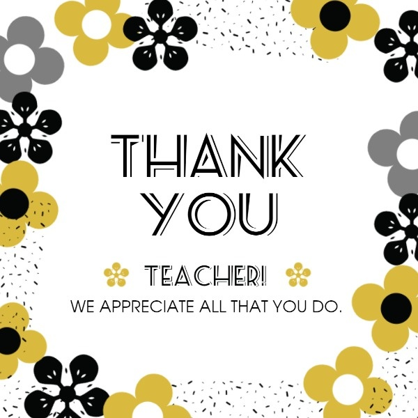 Floral World Teacher's Day Thank You