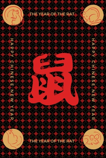 Red Chinese New Year Wishes