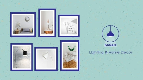 Blue Home Lighting Sale Banner
