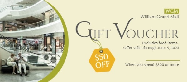 Yellow Gift Voucher
