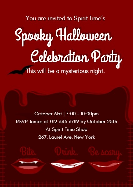 Spooky Halloween Celebration Party