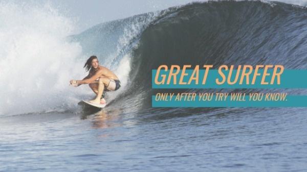 Surfing Sport Banner