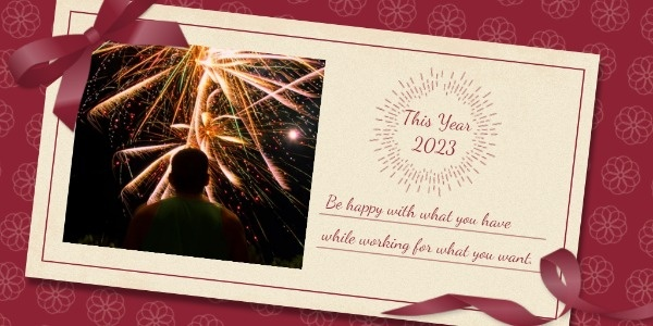 New Year Fireworks Wishes