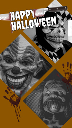 Brown Horrible Halloween Collage