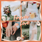 Forever Love Wedding Collage