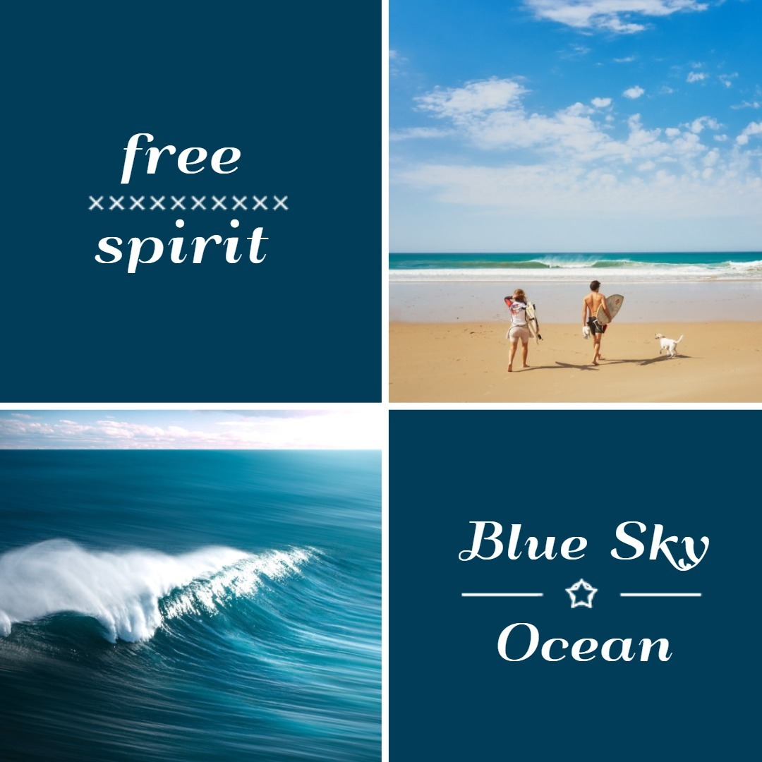 Blue Ocean And Sky Collage
