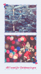 White Winter Christmas Collage