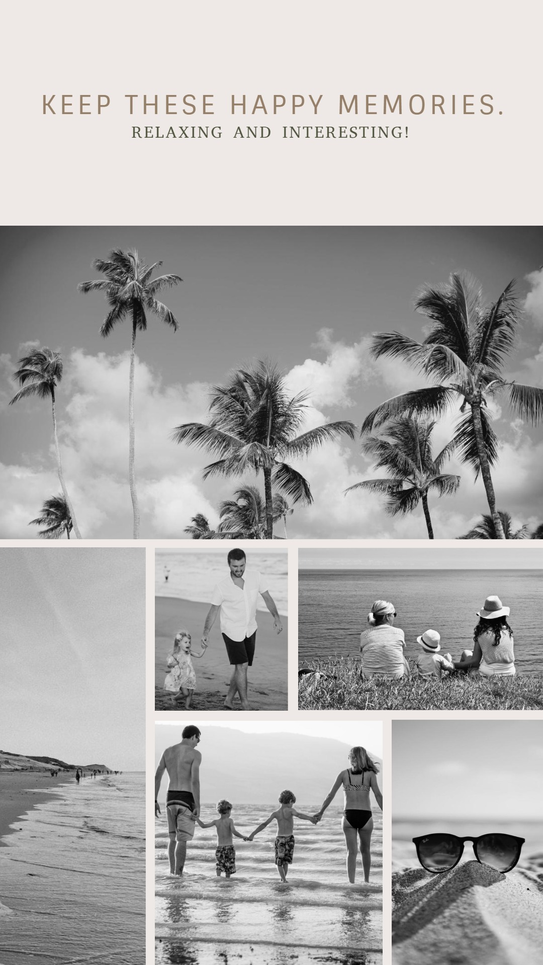 Black And White Summer Holiday Collage2