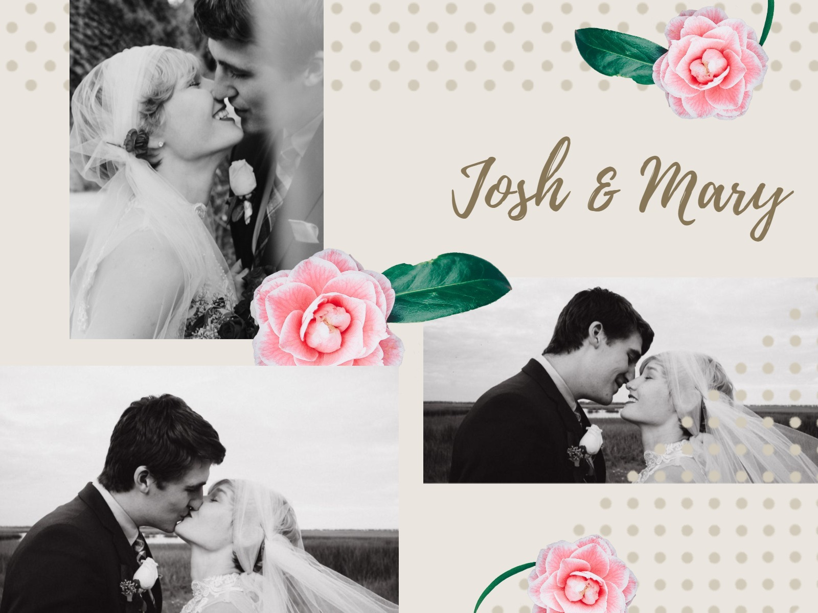 Floral Wedding Collage4x3