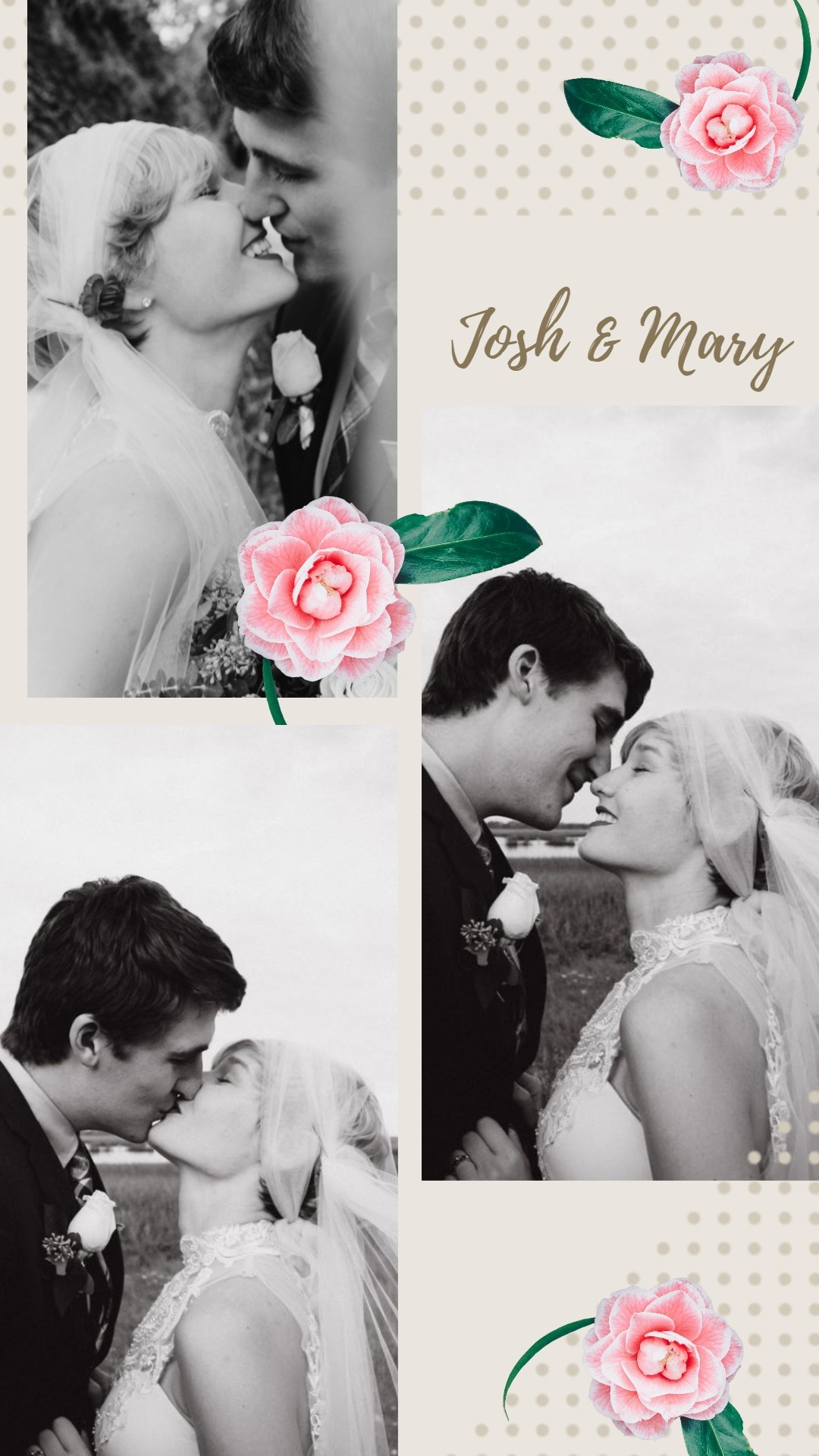 Floral Wedding Collage9x6