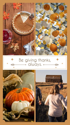 Orange Thanksgiving Collage