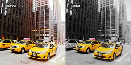 Highlight or change color of your photos with color splash