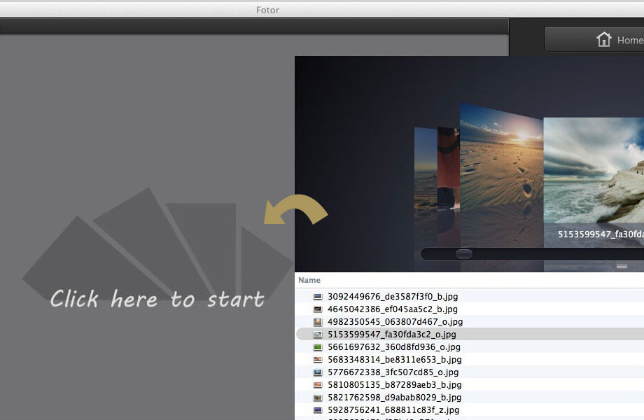 edit photos in Fotor photo editor for Mac