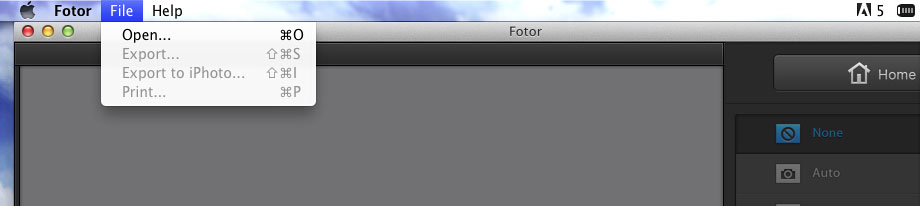 add photos to edit in Fotor photo editor for Mac
