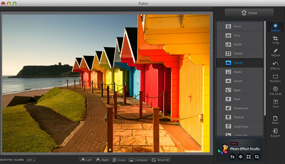 photo enhancements in Fotor photo editor for Mac
