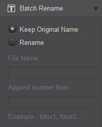 rename photo using Fotor batch rename